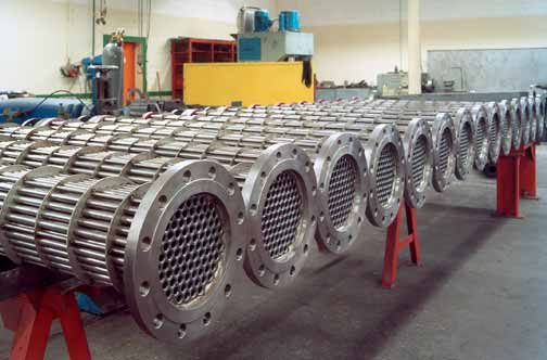Hydrogen Coolers Heat exchangers of smooth tubes