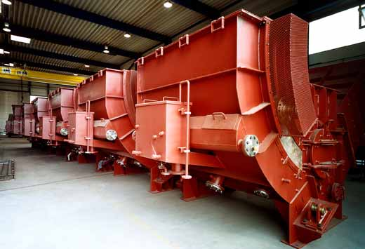 Fabrication of tapped deslagging units for waste incineration heating plant